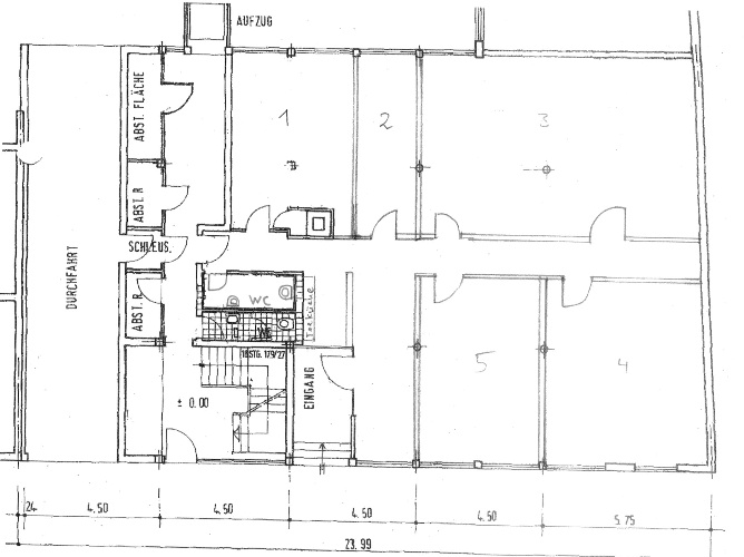 Teeküche büro grundriss  Einzelhandelsfläche Ausstellungsfläche Schulungsraum Werkstatt ...